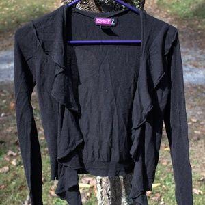 Black cardigan sweater lighter weight